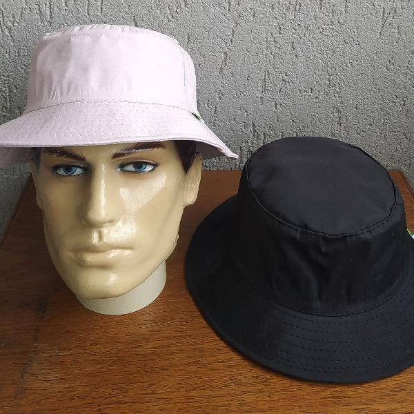 Estilo de rua kit 2 chapéus pescador bucket hat sem