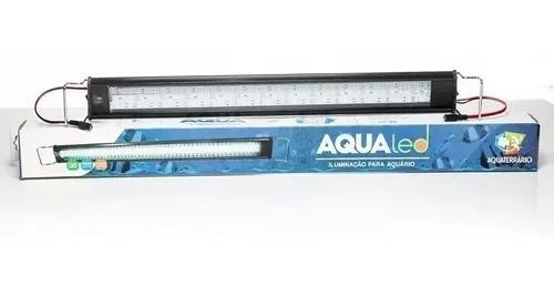 Luminária aquário aqualed branca/azul 50/60cm 18w 1500 lm