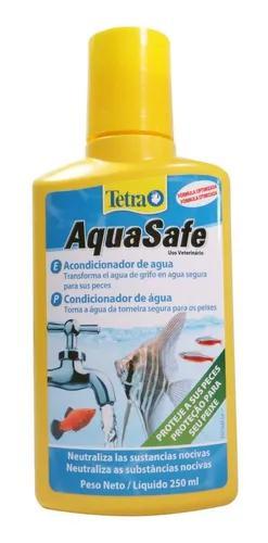 Tetra aquasafe 250ml elimina cloro e metais pesados aquário