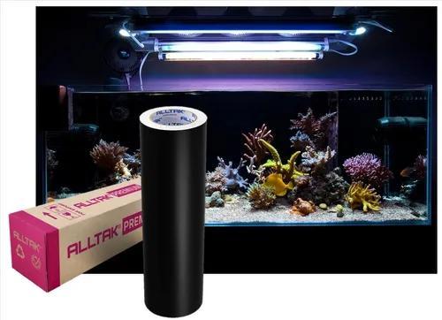 Vinil adesivo preto para aquários 200cm x 50cm