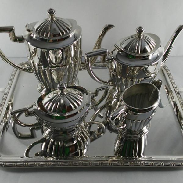 Baixela de chá/café prata 90 wolff
