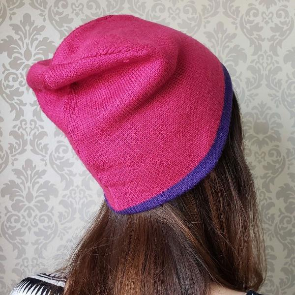 Gorro rosa roxo