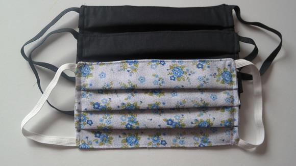 6 mascaras tecido tripla única com 3 camadas de tecido *oms