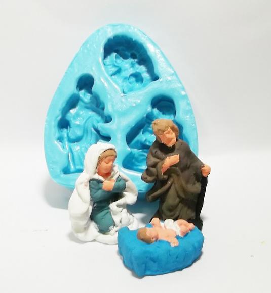 Família sagrada - molde de silicone