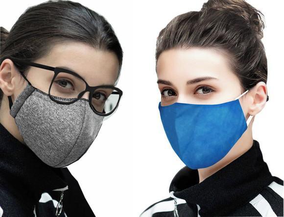 Kit 5 máscaras de tecido, lavável, cirúrgica, dupla face