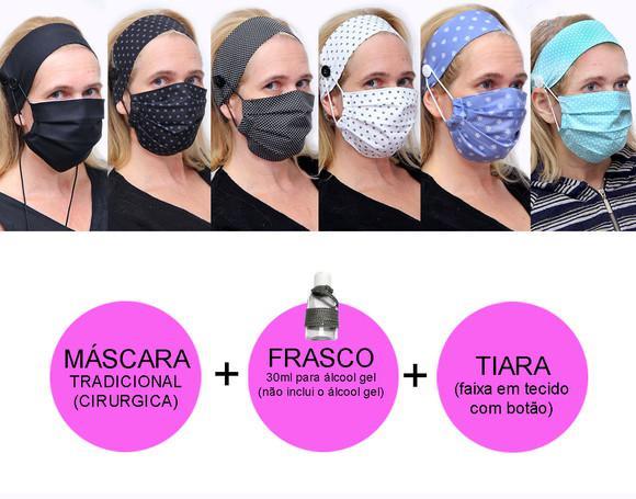 Kit máscara de tecido + tiara