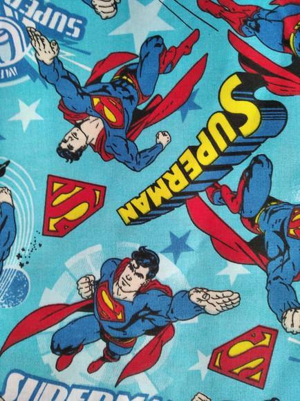 Máscara proteção infantil superman tricoline