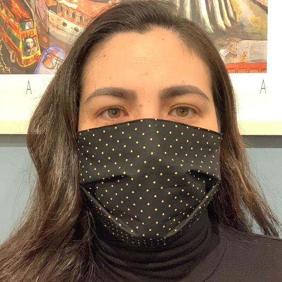 Mascara proteção lavavel tecido duplo