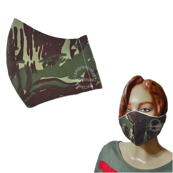 Mascara de proteção em tecido duplo, tricoline 100%