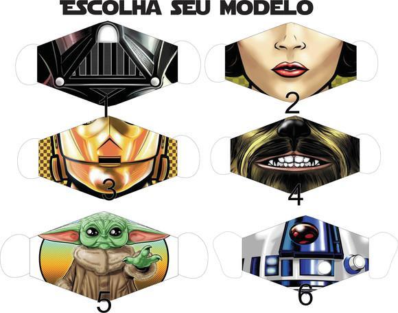 Máscara de tecido proteção star wars