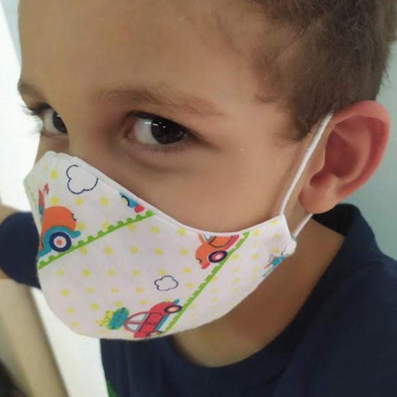 Máscara Infantil em tecido Lavável (tripla proteção)