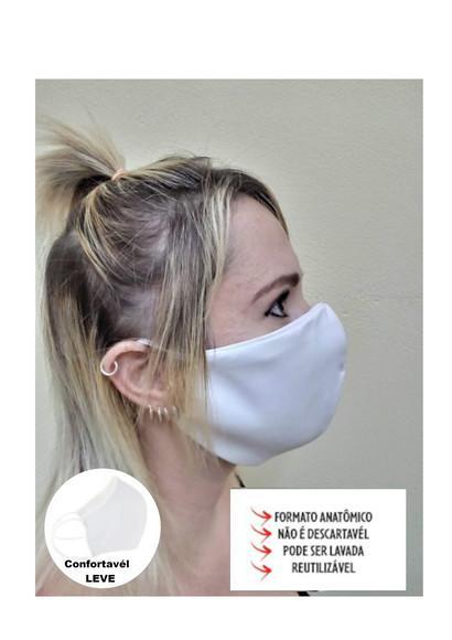 Máscara lavável não descartável de tecido com elástico