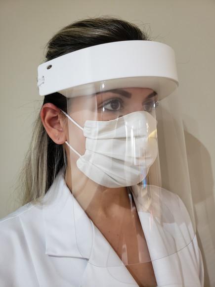 Máscara não descartável / fácil limpeza face shield