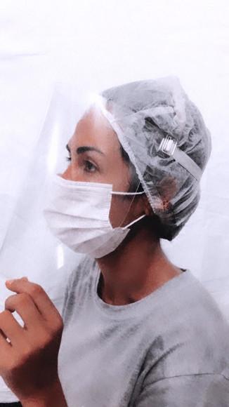 Máscara para proteção facial - protege olhos nariz e boca