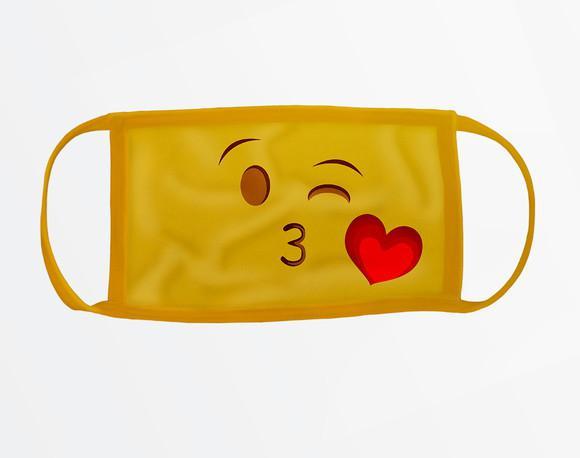 Máscara protetora estampa geek emoji 317