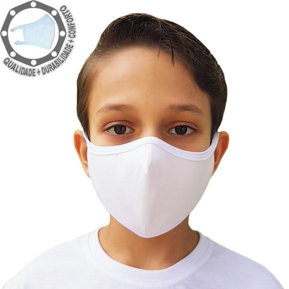 Máscara de proteção 3 três camadas 100% algodão tecido