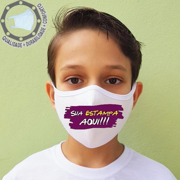 Máscara de proteção personalizada logo imagem tecido