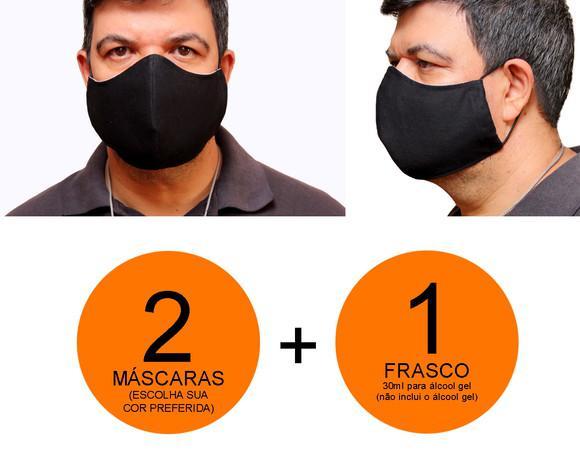 Máscara de tecido - tamanho grande - 2 unidades
