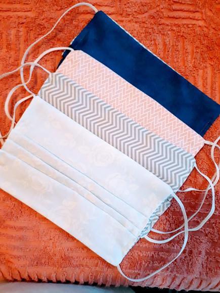 Máscara de tecido lavável reutilizável algodão