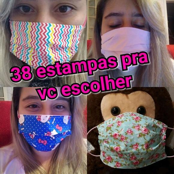 Máscara de proteção facial de tecido