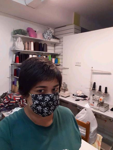Máscara em tecido