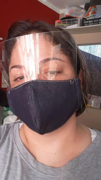 Máscara proteção com viseira