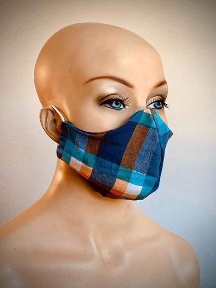 Máscara protetora de algodão lavável