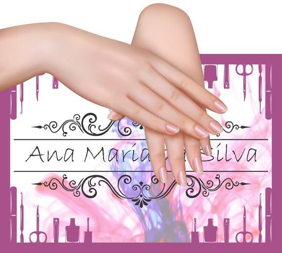 Placa plaquinha fundo 2 foto manicure personalizada