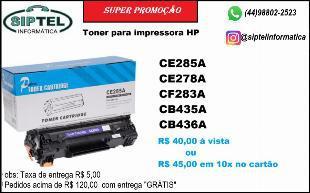 Toners para impressoras hp a partir de 40,00