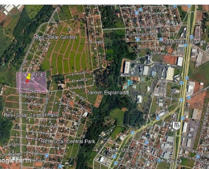Vende-se lote 360 m² residencial solar central park