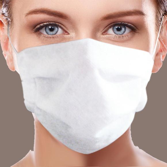 Máscara de proteção lavável tecido tnt