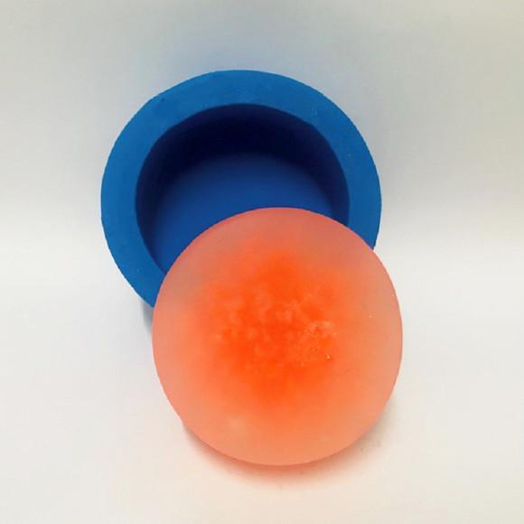 Redondo liso - molde de silicone