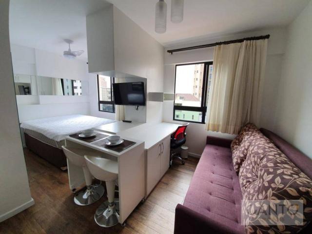 Studio mobiliado com 1 dormitório para alugar no centro em