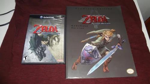 Zelda twilight princess gamecube + livro oficial - raridade