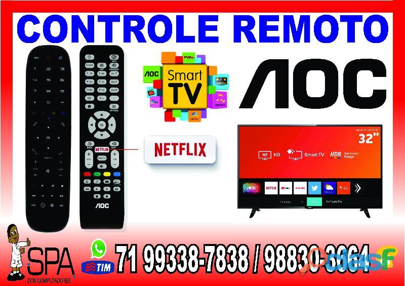 Controle remoto tv aoc lcd, plasma, led e smart tv em salvador ba