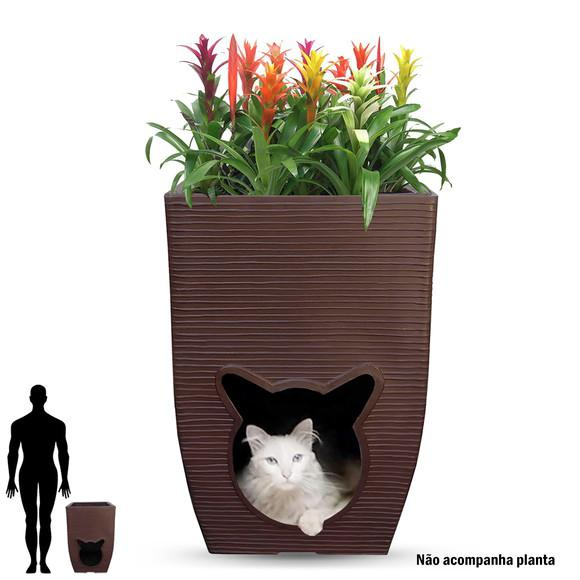 1 vaso casinha cama pelucia gato pet cat cave dog toca 60x40