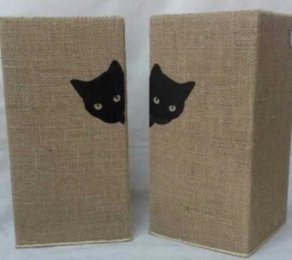 Arranhador gato protetor canto de sofá 40cm o par - bege