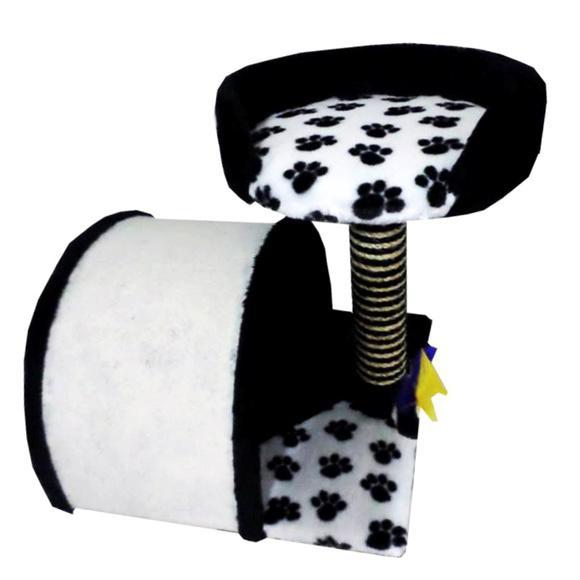 Arranhador para gatos toca com cama