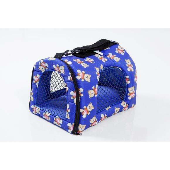 Bolsa de transporte para cães e gatos p azul