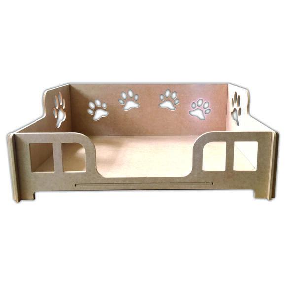 Cama caminha sofá casa para pet, cachorro, gato, em mdf