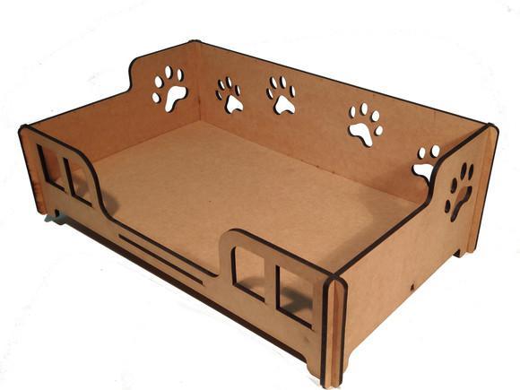 Cama caminha sofá casa para pet, cachorro, gato, em mdf cru