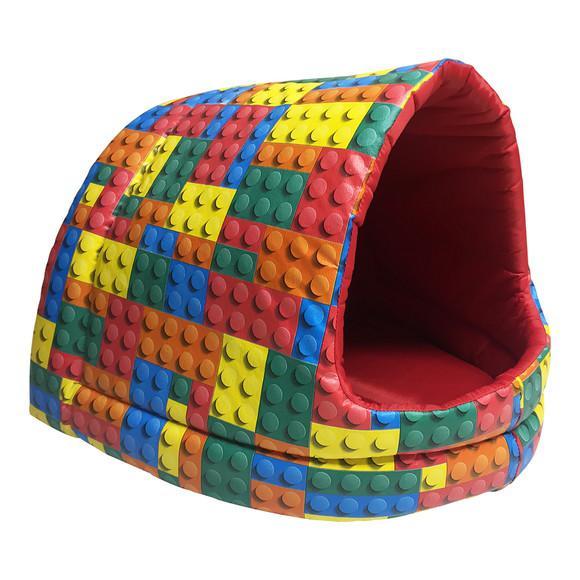 Cama iglu toca para pet cachorro gato médio lego