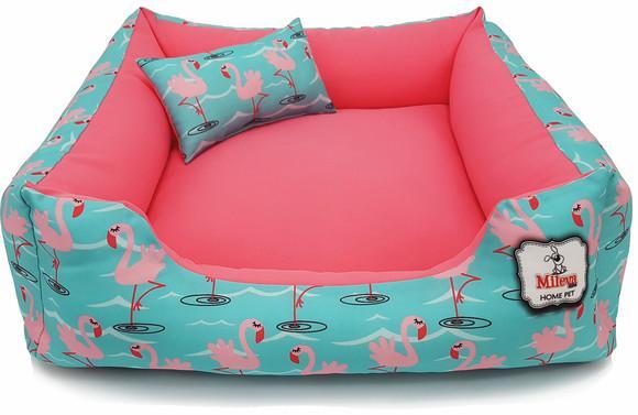 Cama p/cachorro gato caminha pet 60x60 - flamingos