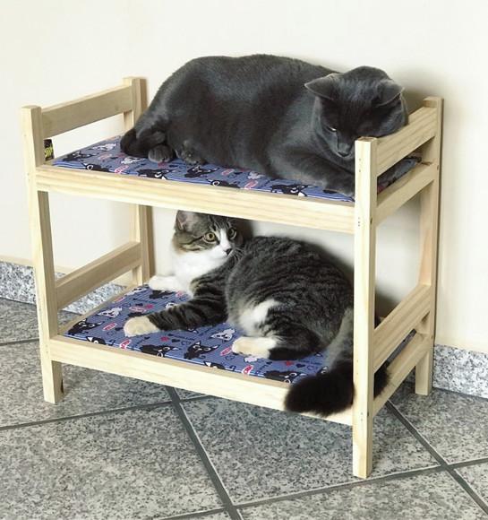 Cama de gato beliche estampada 100% algodão