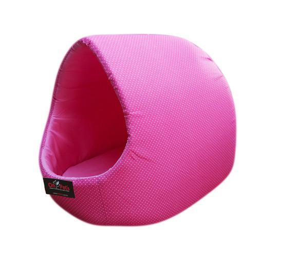 Caminha para cachorro/gato iglu médio amoepet cor rosa poa