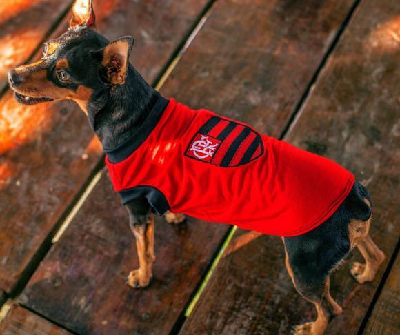 Camiseta para cachorro - time flamengo - xp ao xg