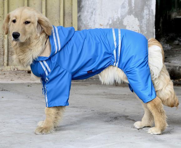 Capa de chuva roupa cachorro grande tórax 82 cm azul