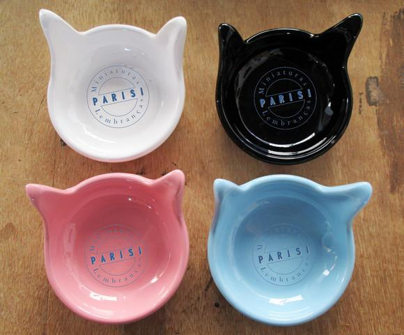 Comedouro para gato cerâmica