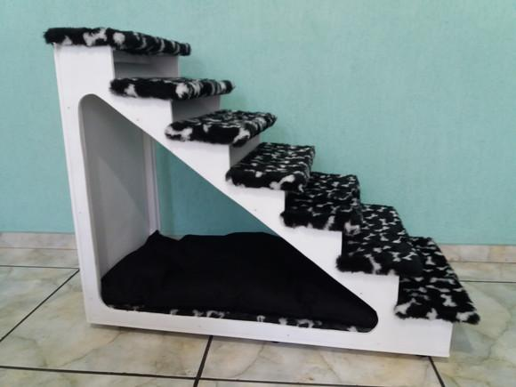 Escada pet oca colorida 70 cm altura
