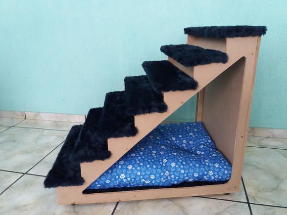 Escada pet oca crua 70 cm altura